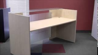 Glass Front Reception Desk