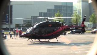 Bell-429 Ra-01609 Globalranger Engine Start And Takeoff Helirussia 2014