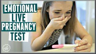 EMOTIONAL LIVE PREGNANCY TEST! | 8 DPO