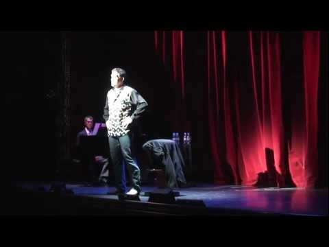 Broadways Patrick Sullivan performing on stage onboard the Disney Magic September