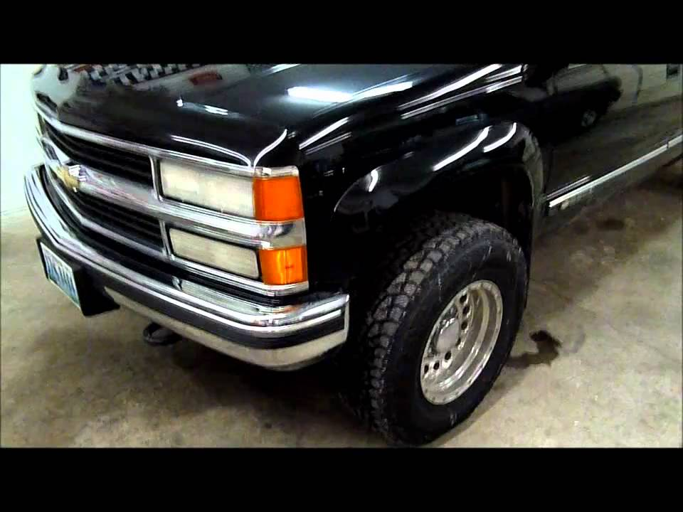 Black Chevy Silverado Lifted >> 1998 Chevrolet 2500 4X4 Walk Around and Cold Start - YouTube