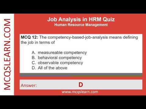 Job Analysis in