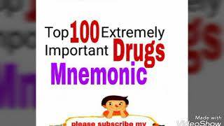 Top 100 extremely important drugs mnemonic | Most amazing  remembering tips | part-1