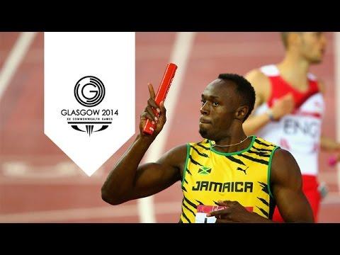 Jamaica break Commonwealth 4x100m record - Usain Bolt | Unmissable Moments