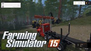 Farming simulator 15 | Clear Cut RedWood Trees