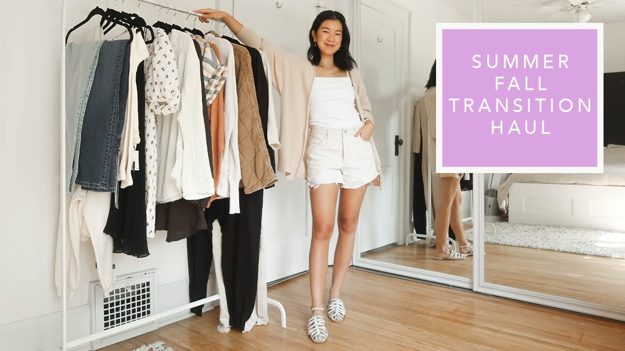 NEW CLOTHING HAUL | Summer Fall Transition Style | @Free People @H&M Channel