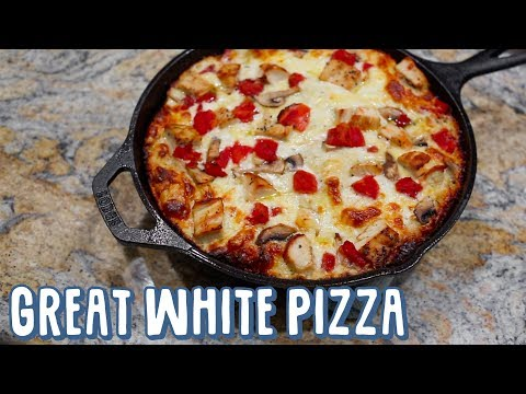 The Great White Pizza from BJ's Brewhouse
