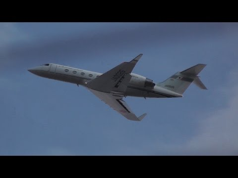 "ローカライザー検査 ""Check Localizer"" JCAB (Japan Civil Aviation Bureau) Gulfstream IV-SP JA002G"