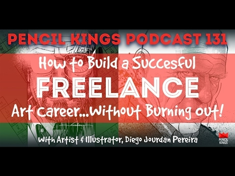 PK 131: How to Build a Successful Freelance Art Career...Without Burning Out!