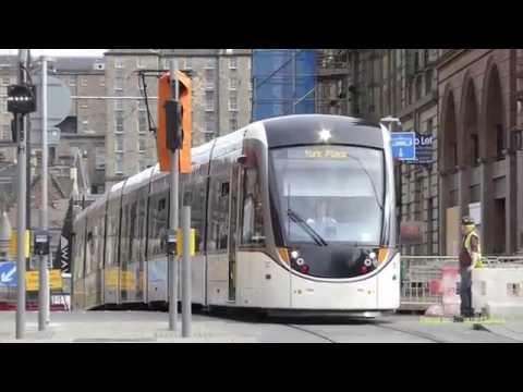 Trams in Edinburgh, Scotland 2016