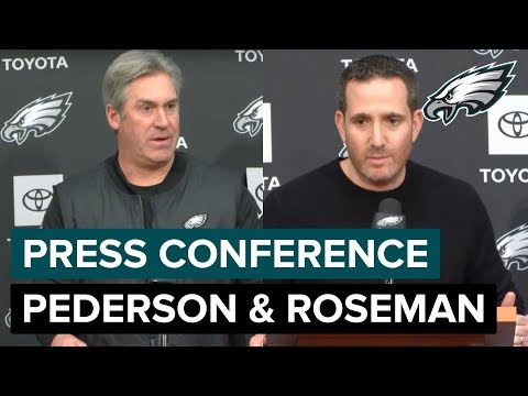 Doug Pederson & Howie Roseman 'Carson Wentz is the QB Going Forward' | Eagles Press Conference