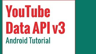 Youtube Data Api V3 Android