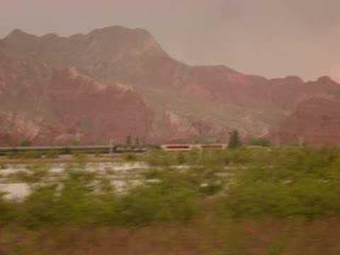 Busfahrt Lanzhou to Xining entlang des Yellow River