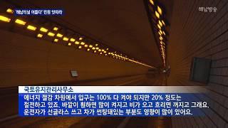 조명 절반 꺼진 해남터널, 어둡다는 민원 잇따라 (자막…