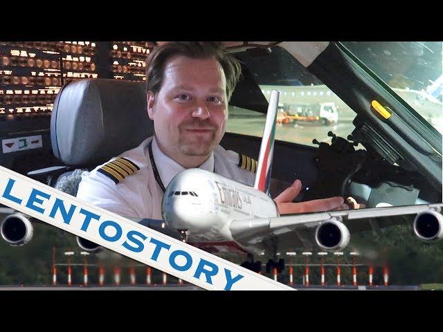 Lentostory: Superjumbon sivutuulilaskeutuminen