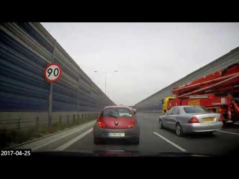 #11 Car travel Poland - timelapse S8 Warszawa