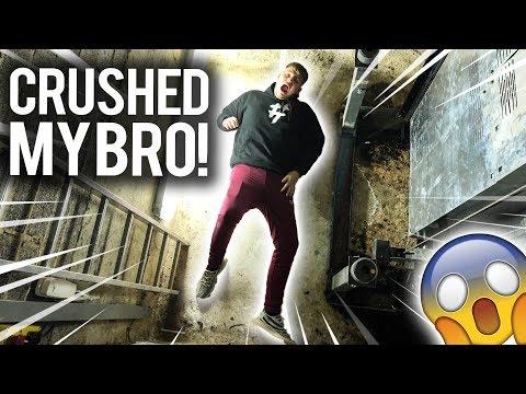 AN ELEVATOR CRUSHED MY BRO
