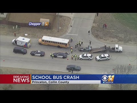 Princeton ISD Bus Involved In Crash; No Students On Board Injured