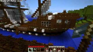 Repeat youtube video Minecraft - pirate ship vs USS Constitution