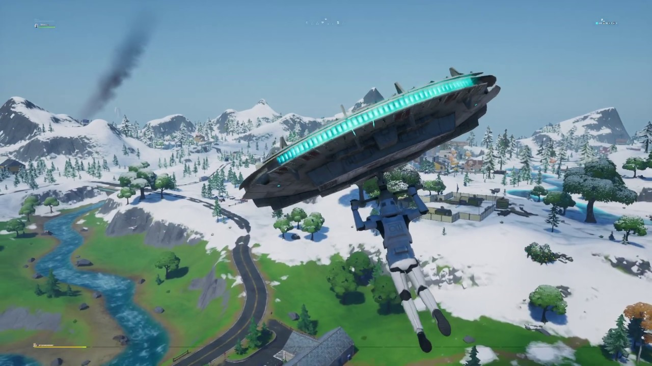 Fortnite - Millennium Falcon Glider Gameplay