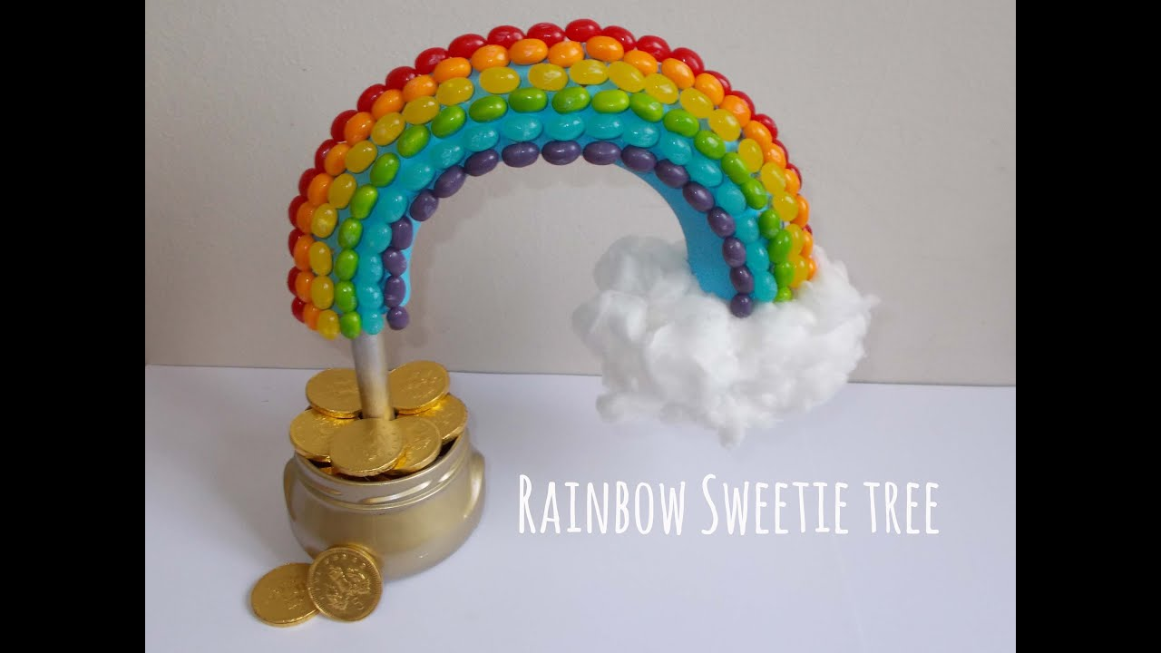 How To Make A Pot Of Gold Rainbow Sweetie Tree Diy Youtube
