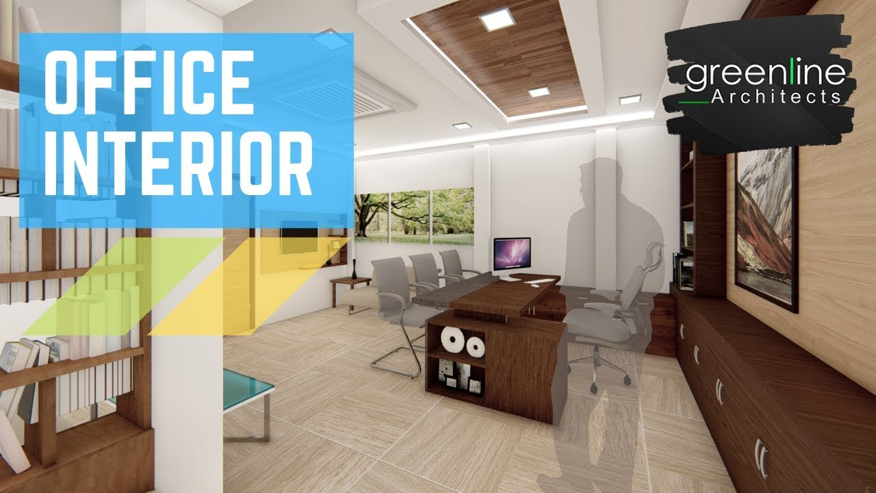 Office Interior Design Concept Video Walk through