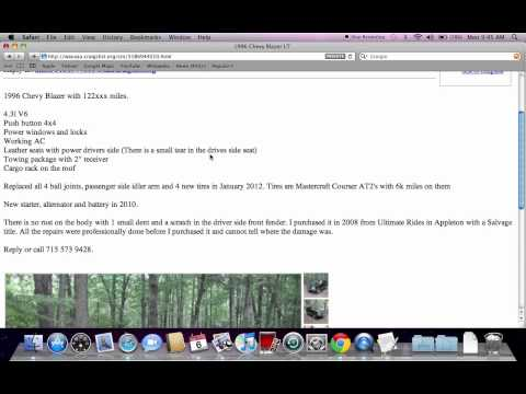 Craigslist Wisconsin Used Cars For Sale By Owner - Youtube