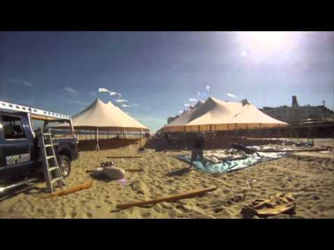 2012 Beach Installation of Sperry Tents & 2012 Beach Installation of Sperry Tents - YouTube