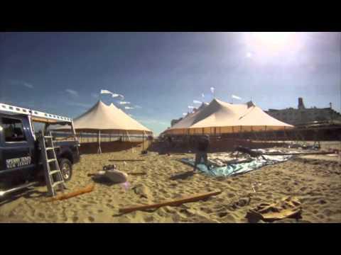 2012 Beach Installation of Sperry Tents & 2012 Beach Installation of Sperry Tents - YouTube