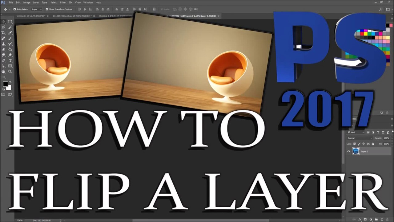 Photoshop How To Flip A Layer Youtube