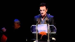 Bono (U2) recites a poem to Anton Corbijn thumbnail