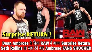 Dean Ambrose Surprise * RETURN * || Dean Ambrose Return And Help Seth Rollins || Dean Is Back In RAW
