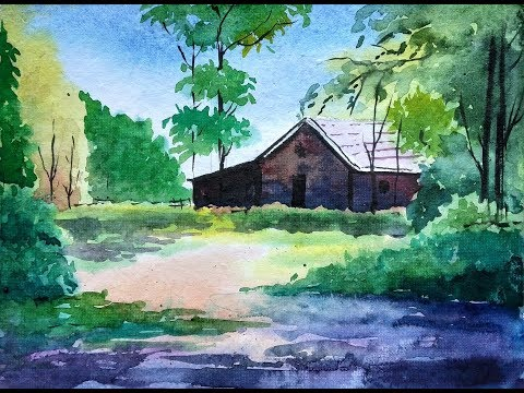 Watercolor Landscape Painting | Paint with David