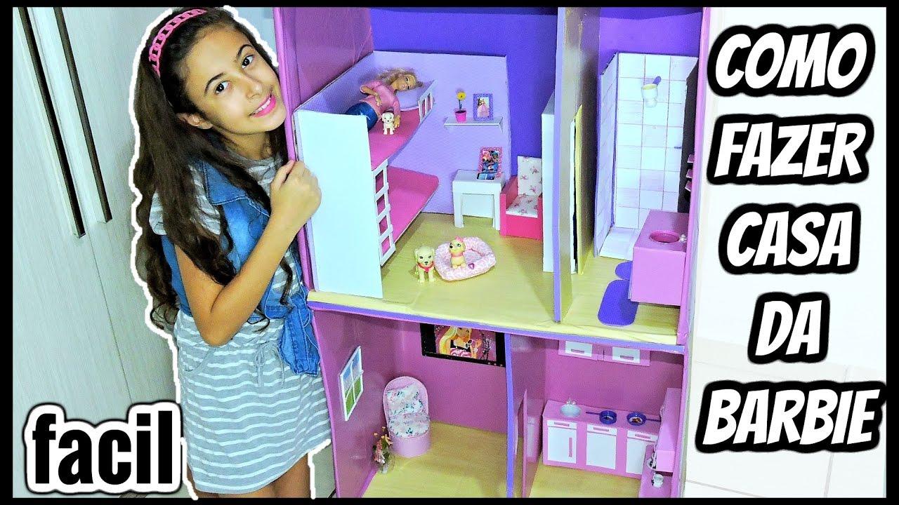 Como Fazer Casinha Para Bonecas Barbie De Papelão Fácil Youtube