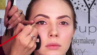Вечерний макияж - растушеванная стрелка