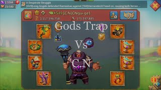 Gods Trap Vs C.N Guild(5 rallies) - Lords Mobile