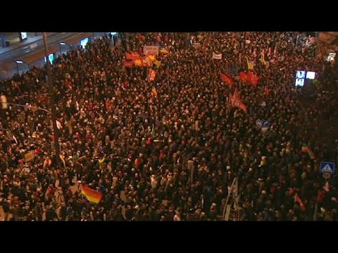Anti-Islamisation PEGIDA rallies in Dresden and other German cities