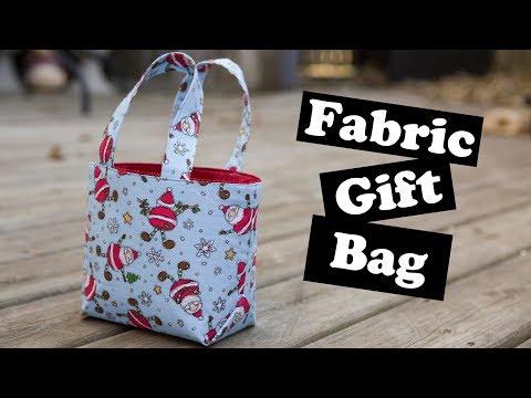 Fabric Gift Bag Tutorial!