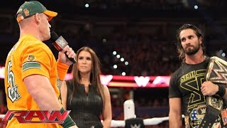 The WWE World Heavyweight and U.S. Champion learns that he'll need to face both Sting and John Cena at Night of Champions. More ACTION on WWE ...