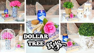 DOLLAR TREE DIY | BLUE AND WHITE THEME | GLAM DECOR