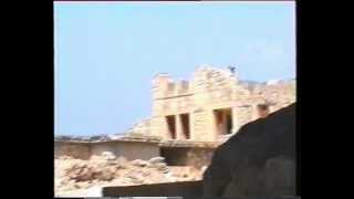 Ruins of Crete and  Greek cicadas