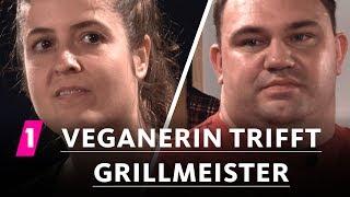 Veganerin trifft Grillmeister | 1LIVE Ausgepackt - Folge 4: Vegan oder Fleisch?