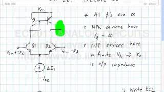 Lecture 36 - Differential pair with active load, opamp internals,the single stage opamp