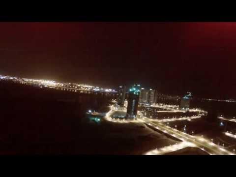 Beach Towers, Al Reem Island at Night Time