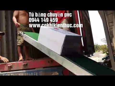 Băng tải pvc nâng hạ 2 cánh cơ động giá rẻ