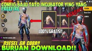 Config Baju Tato Ying Yang Biru Freefire Gratis Youtube
