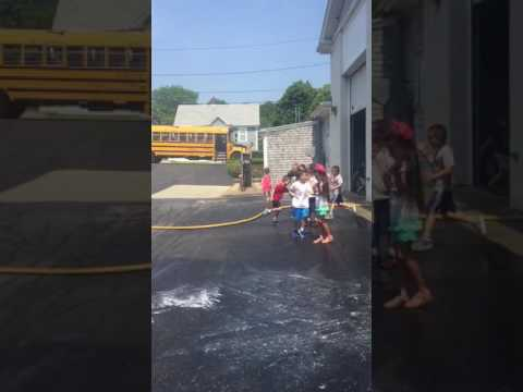 Cushman School kindergarteners visit the fire department