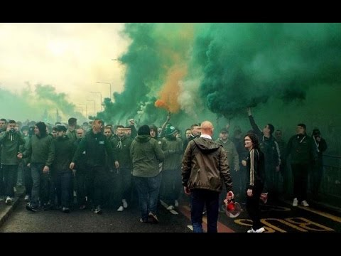 Celtic - Rangers Old Firm Green Brigade Cortege