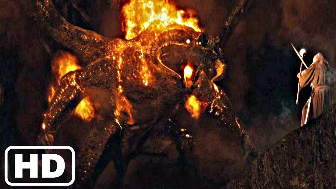 BALROG Boss Fight - Lord of The Rings The Fellowship of The Ring (4K UHD)