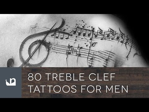 80 Treble Clef Tattoos For Men